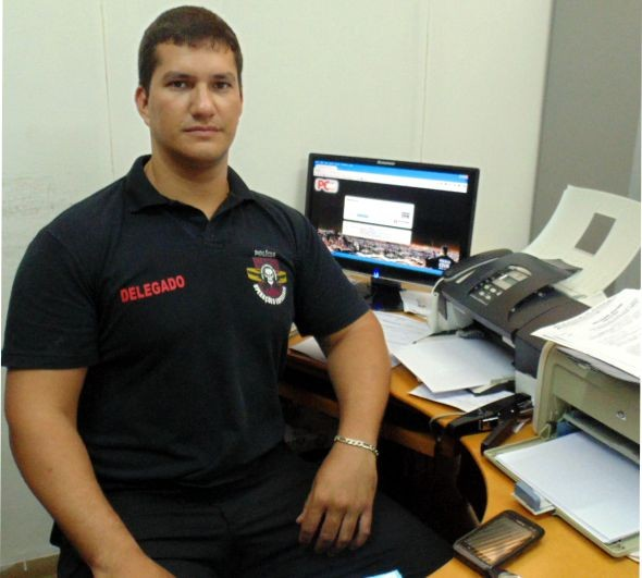 (foto arquivo VOZ) Delegado de Perdões, Dr.Tiago Veiga Ludwig